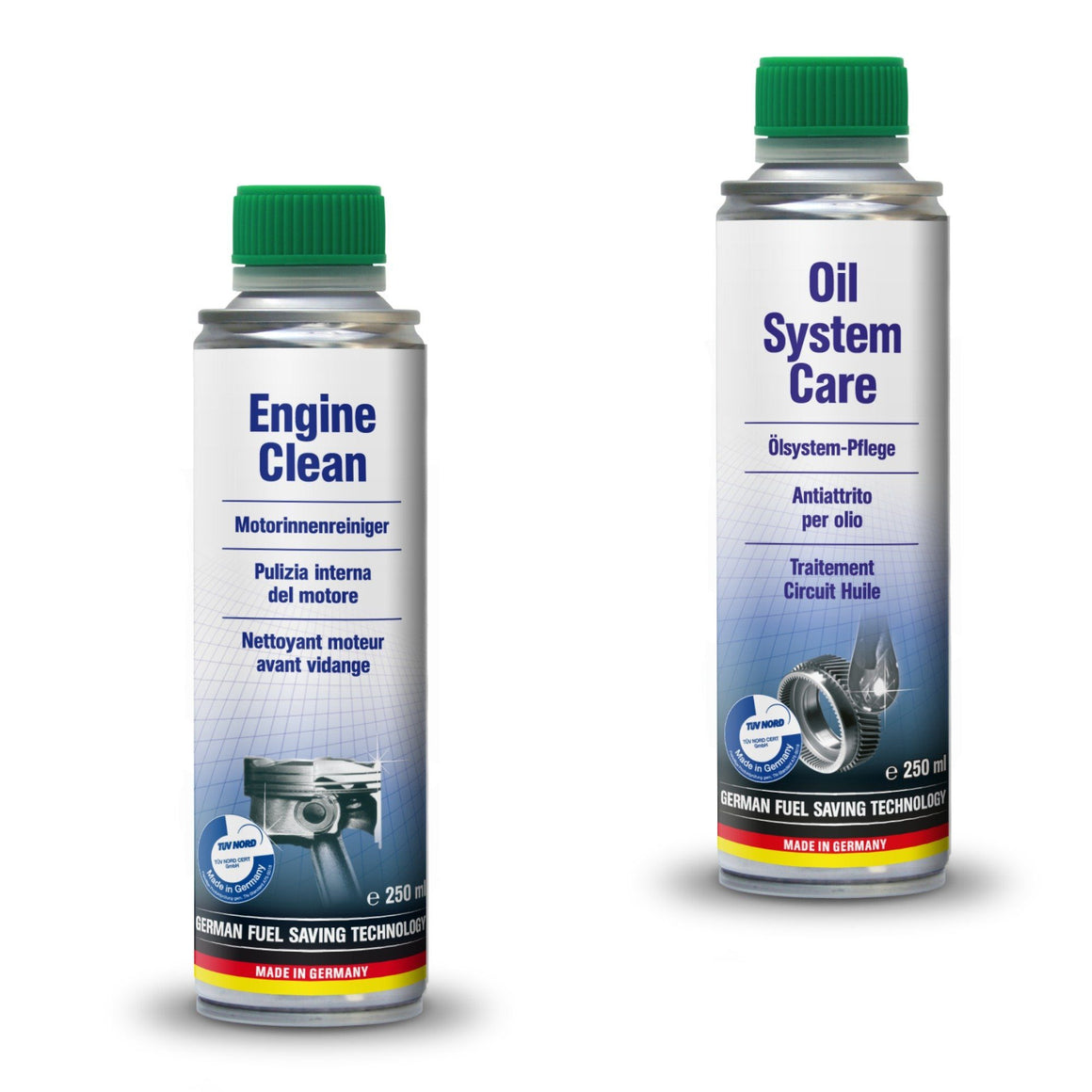 AUTOPROFI  Engine Clean - 250ml & OIL SYSTEM CARE - 250ML - KIT - Just European