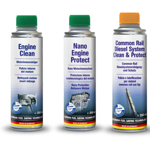 AUTOPROFI  Engine Clean & Nano Engine Protect & Common Rail Diesel System Clean & Protect - KIT - Just European