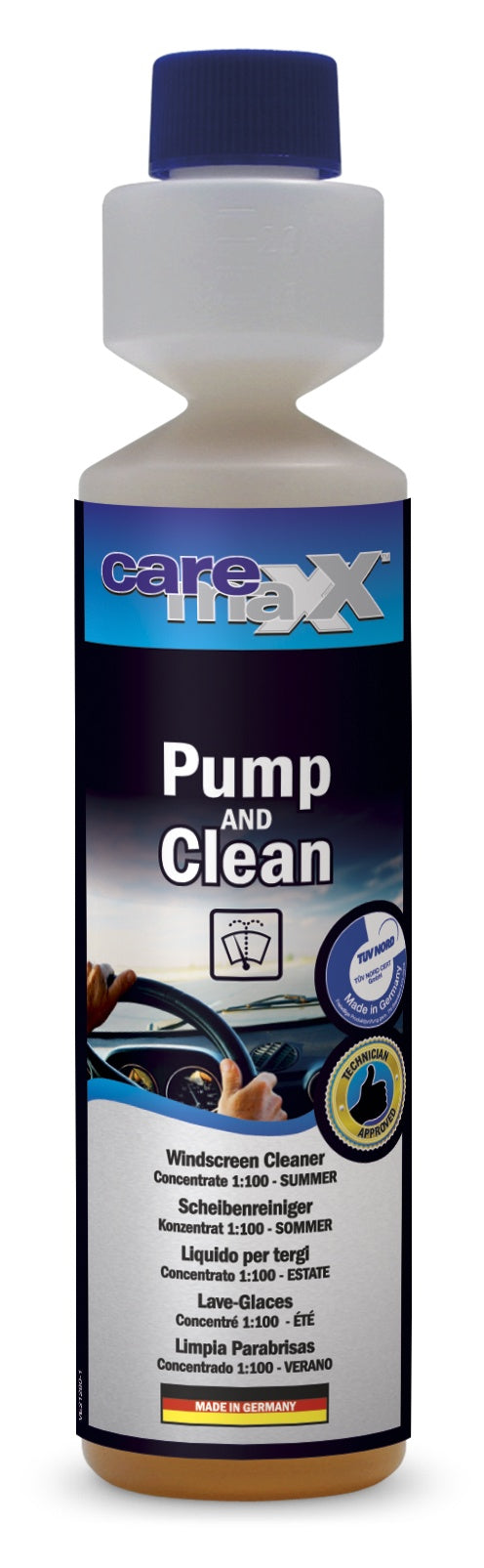 Pump & Clean Windscreen Cleaner Concentrate 1:100 - Just European