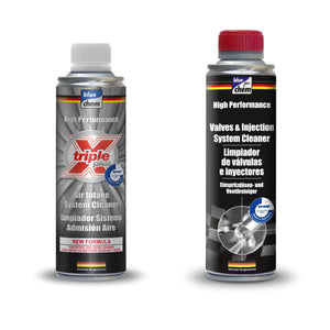 Valves & Injection System Cleaner & Triple X Plus Air Intake System Cleaner - KIT - Just European