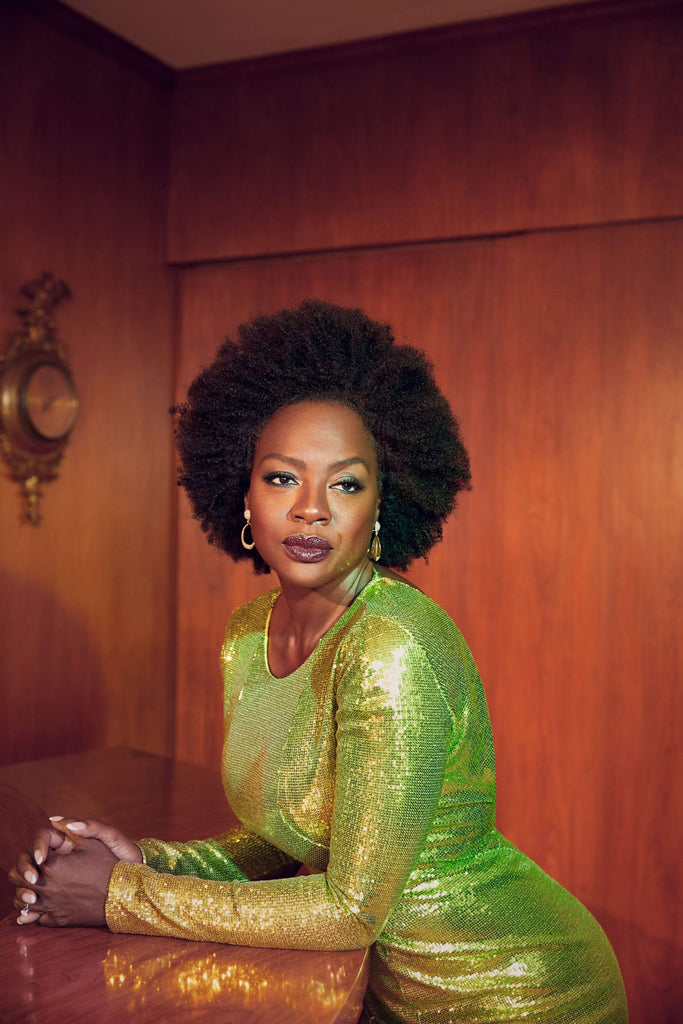 Viola Davis wears Galvan for L'Officiel USA
