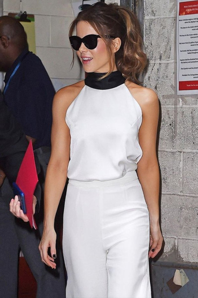 Kate Beckinsale wears Galvan whilst promoting new film in NYC
