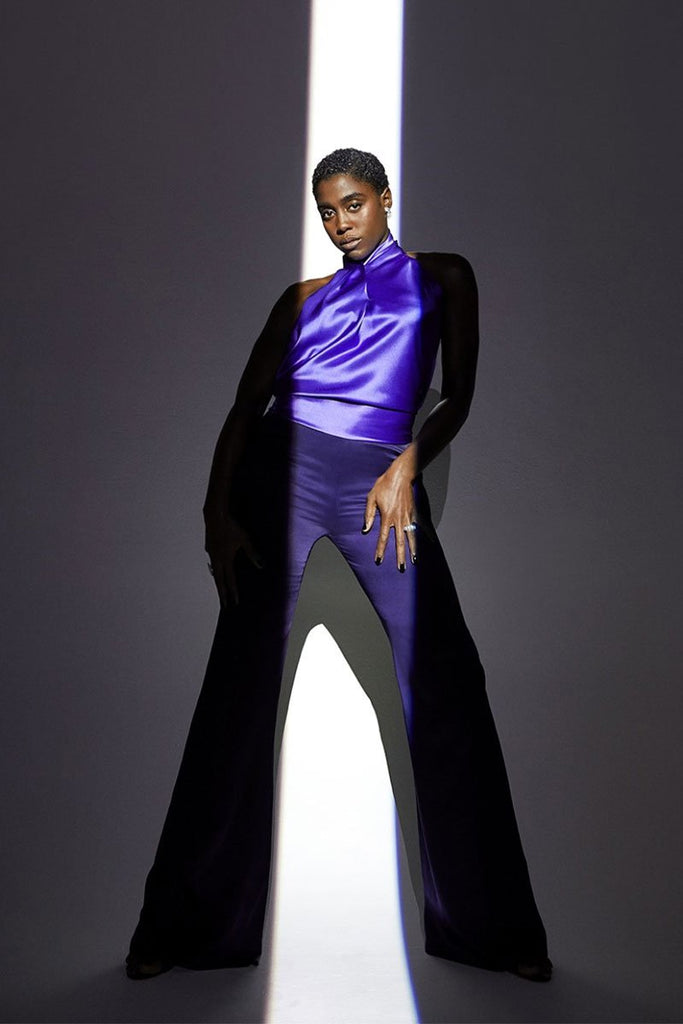 Lashana Lynch wears Galvan in The Hollywood Reporter