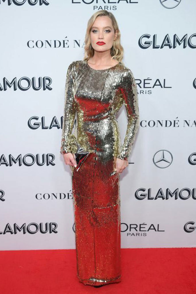 Laura Whitmore in Galvan at Glamour Awards