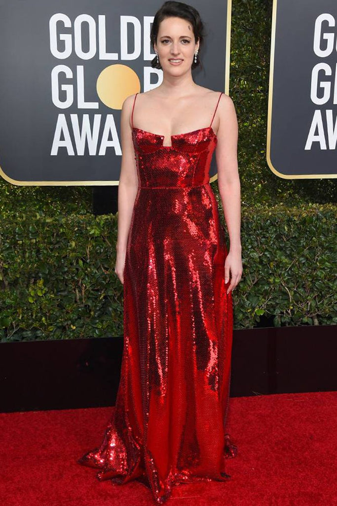 Phoebe Waller-Bridge wears custom Galvan to the Golden Globes