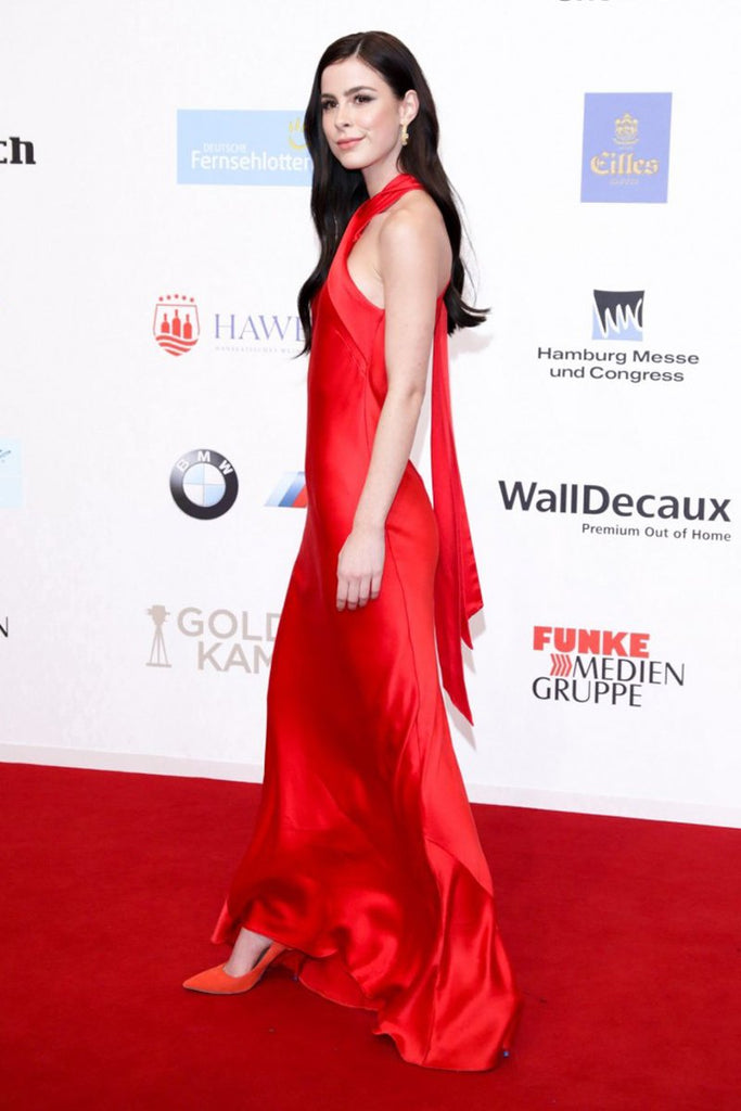Lena Meyer-Landrut wears Galvan for the red carpet of the Golden Camera Awards