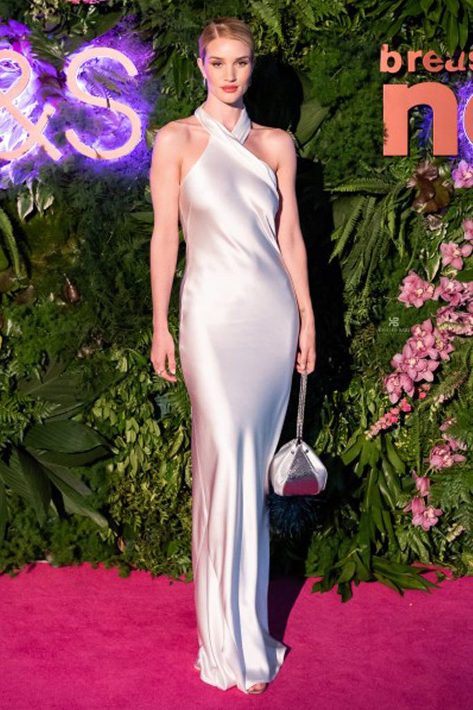 Rosie Huntington-Whiteley wears Galvan for summer charity ball event in London