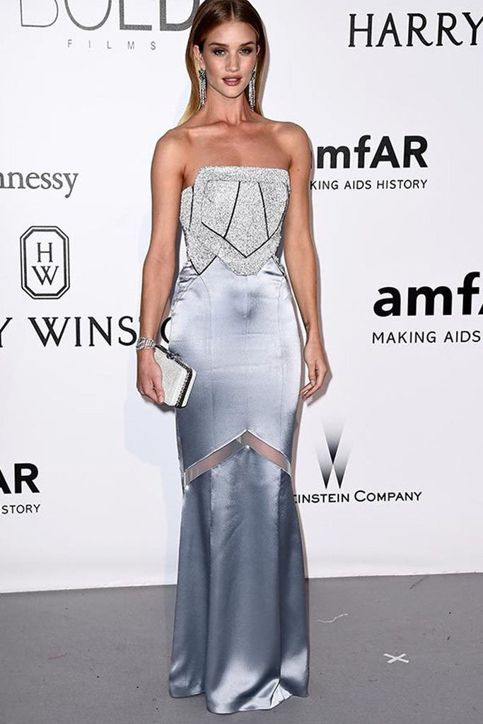 Rosie Huntington-Whiteley wears bespoke Galvan at the amfAR Gala in Cannes