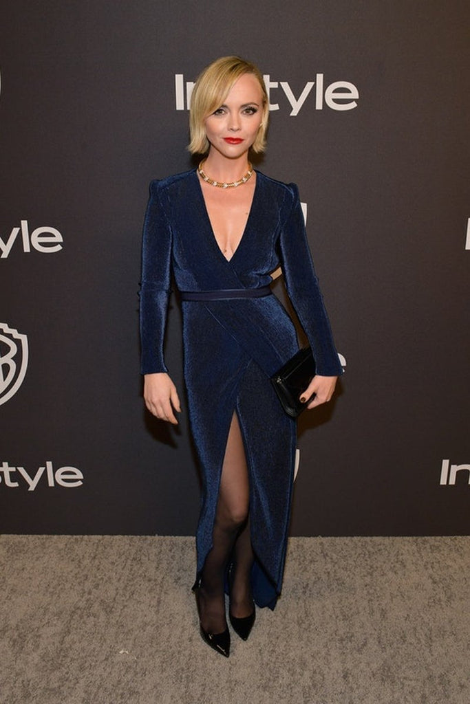 Christina Ricci wears Galvan to InStyle's Golden Globes party