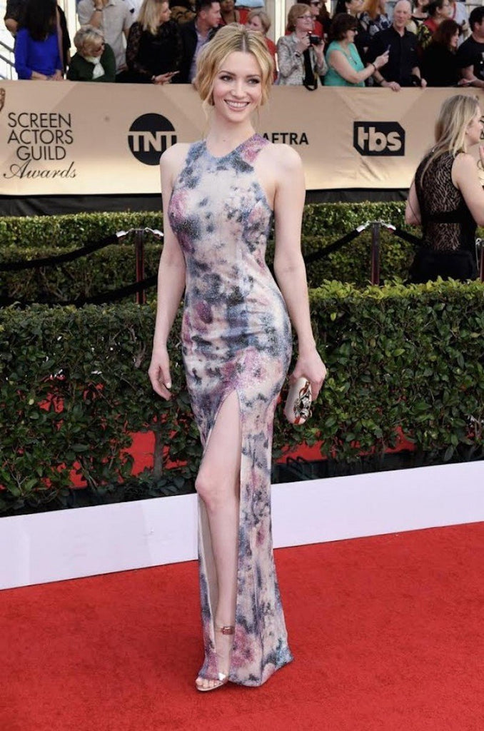 Talulah Riley wears Galvan to the SAG Awards