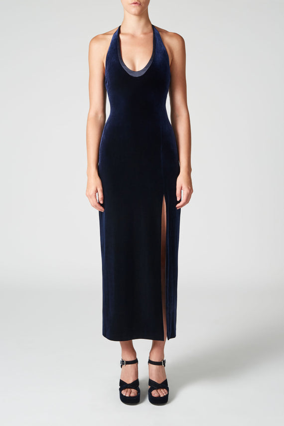 Velvet Ellipse Dress - Midnight