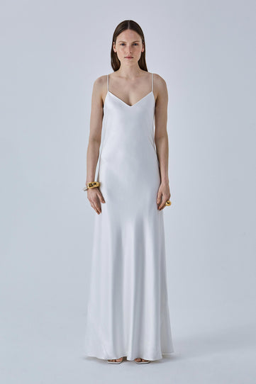 Malibu V neck Bridal Slip Dress