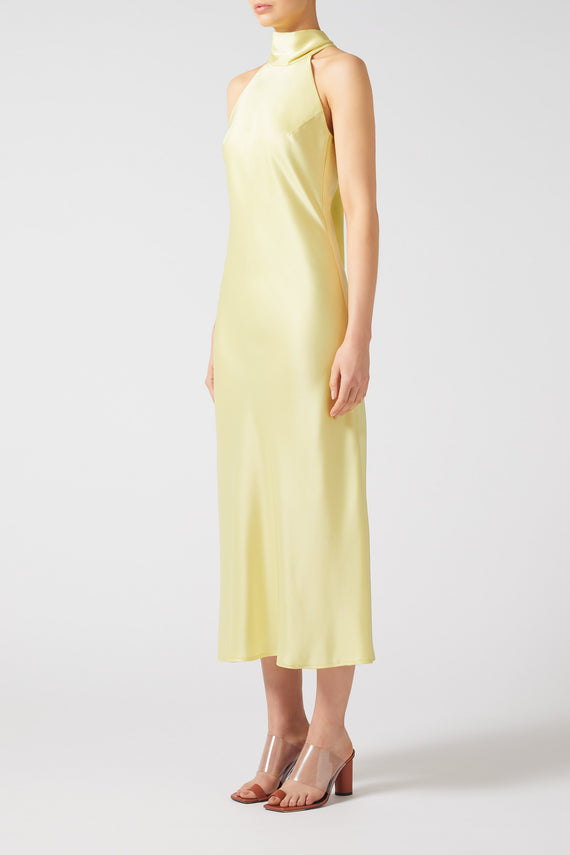 Cropped Sienna Dress - Lemon