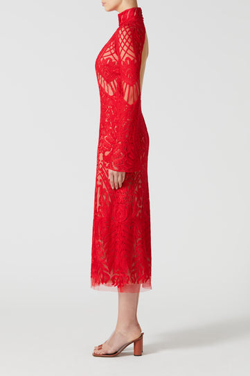 Embroidered Oasis Dress