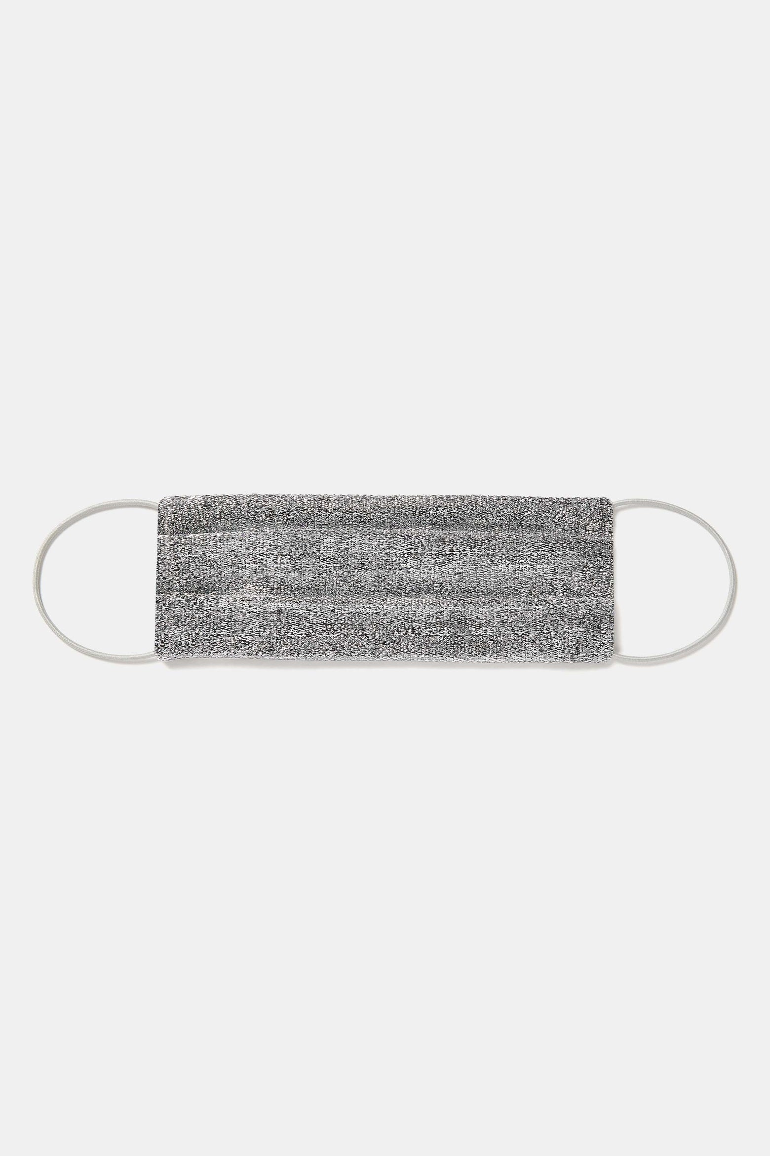 Face Mask With Elastic - Silver