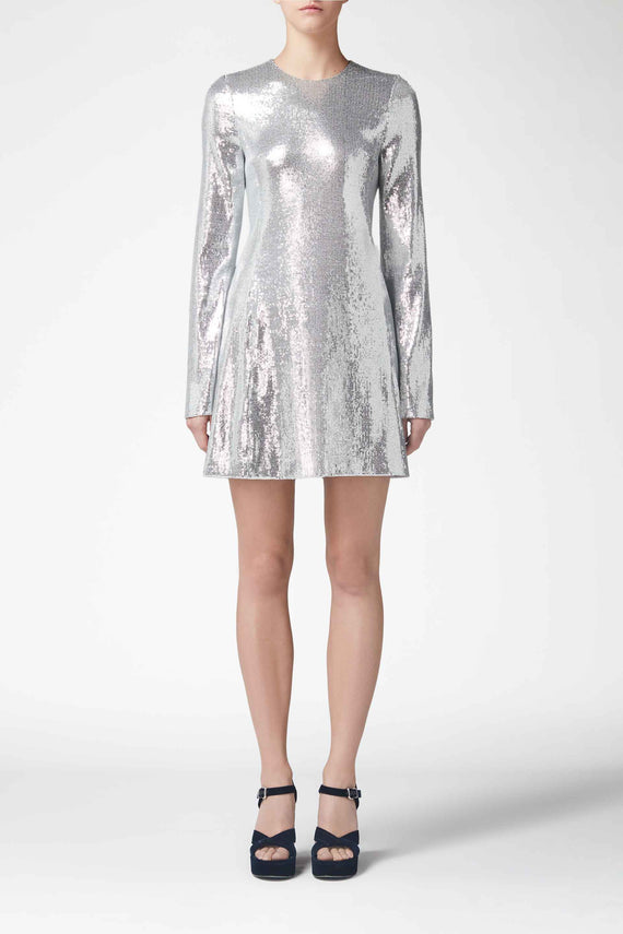 Galaxy Mini Dress - Silver