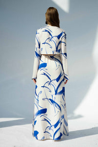 Lido Dress - White & Yves Klein Blue
