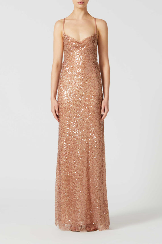 Paillette Whiteley Dress - Copper