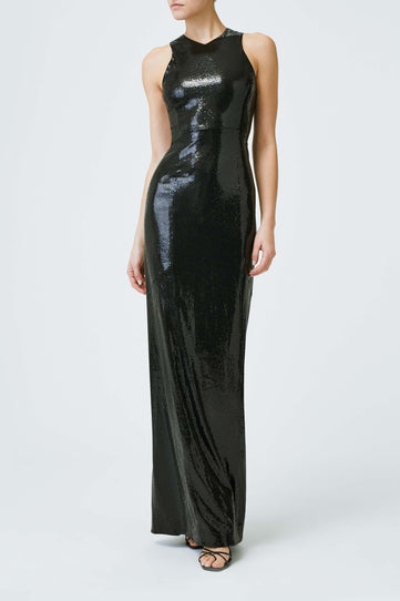 Sequin Reflection Dress - Black