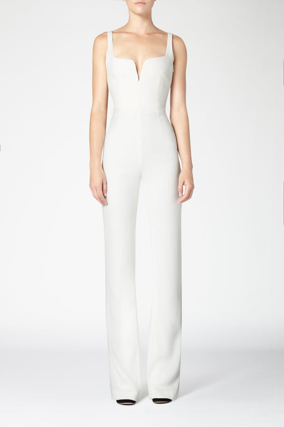 Signature Corset Jumpsuit - White