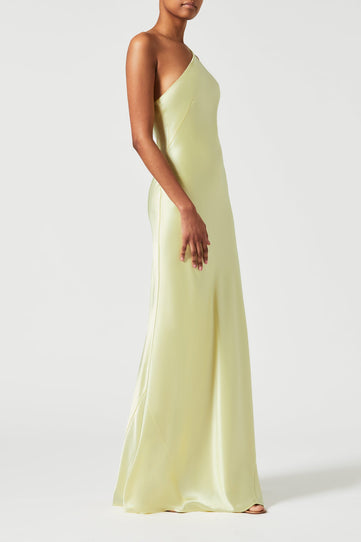 Satin Roxy Dress - Buttermilk