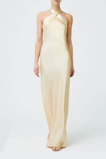 Silk Eve Dress - Gold