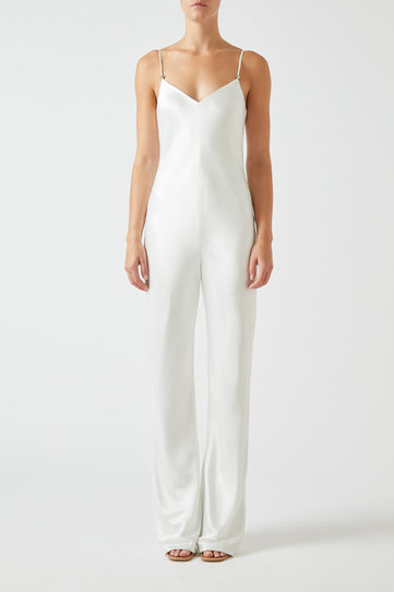 Slouchy Jumpsuit - White
