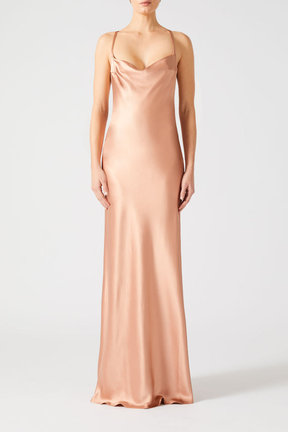 Whiteley Dress - Rose Gold