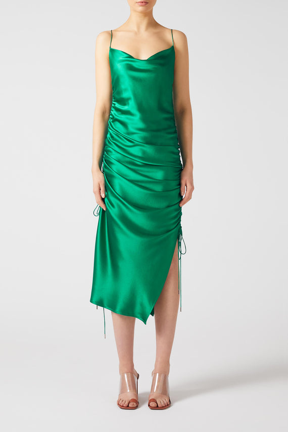 Yasmine Dress - Hunter Green