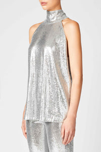Galaxy Sash Neck Tunic - Silver