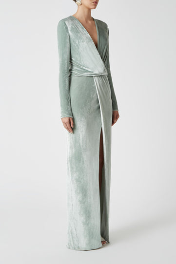 Vera Velvet Dress - Mint