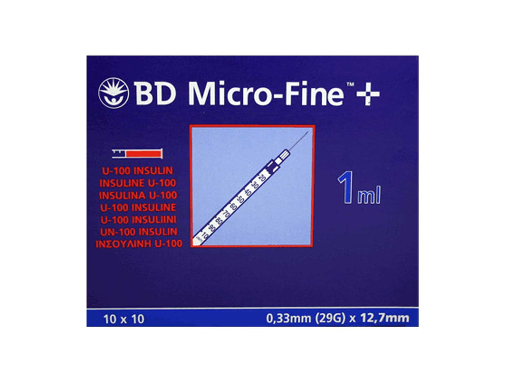BD Microfine Plus Demi 1ml Insulin Syringe 29G x 12.7mm