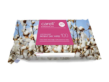 Carell Patient Dry Wipes - Cotton Soft (100)