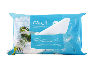 Carell Patient Dry Wipes - Everyday Plus (100)