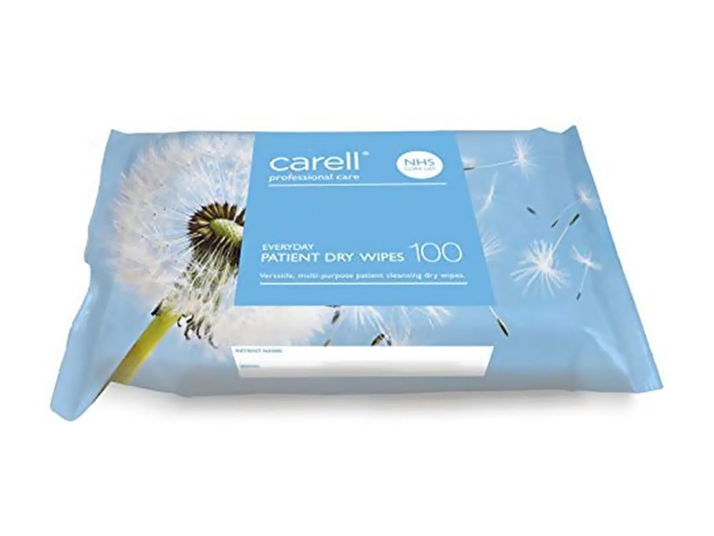 Carell Patient Dry Wipes - Everyday (100)