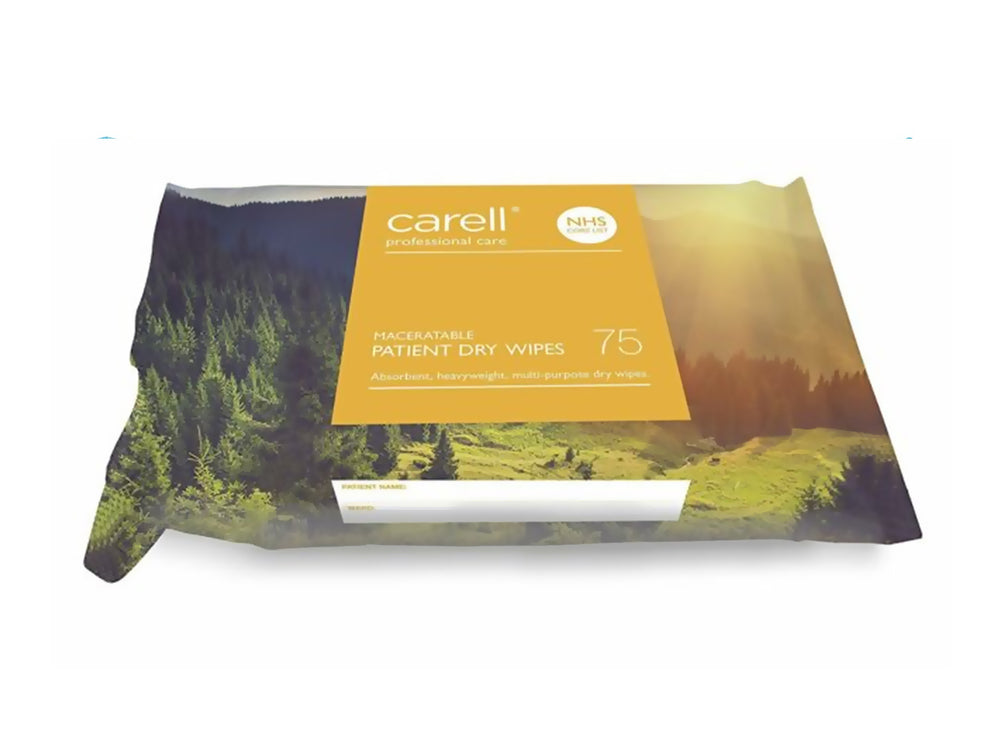 Carell Patient Dry Wipes - Maceratable (75)