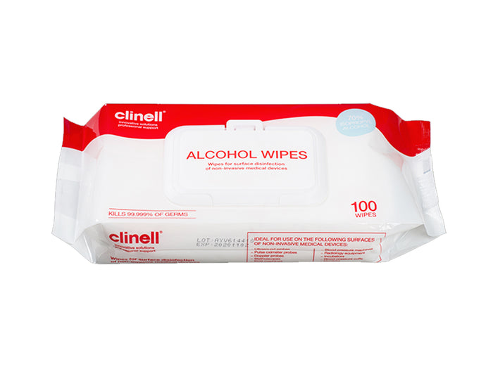 Clinell Alcohol Wipes Large (100)