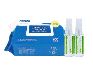 Clinell Antibacterial Hand Wipes, Responsebeta Disinfectant 50ml Spray