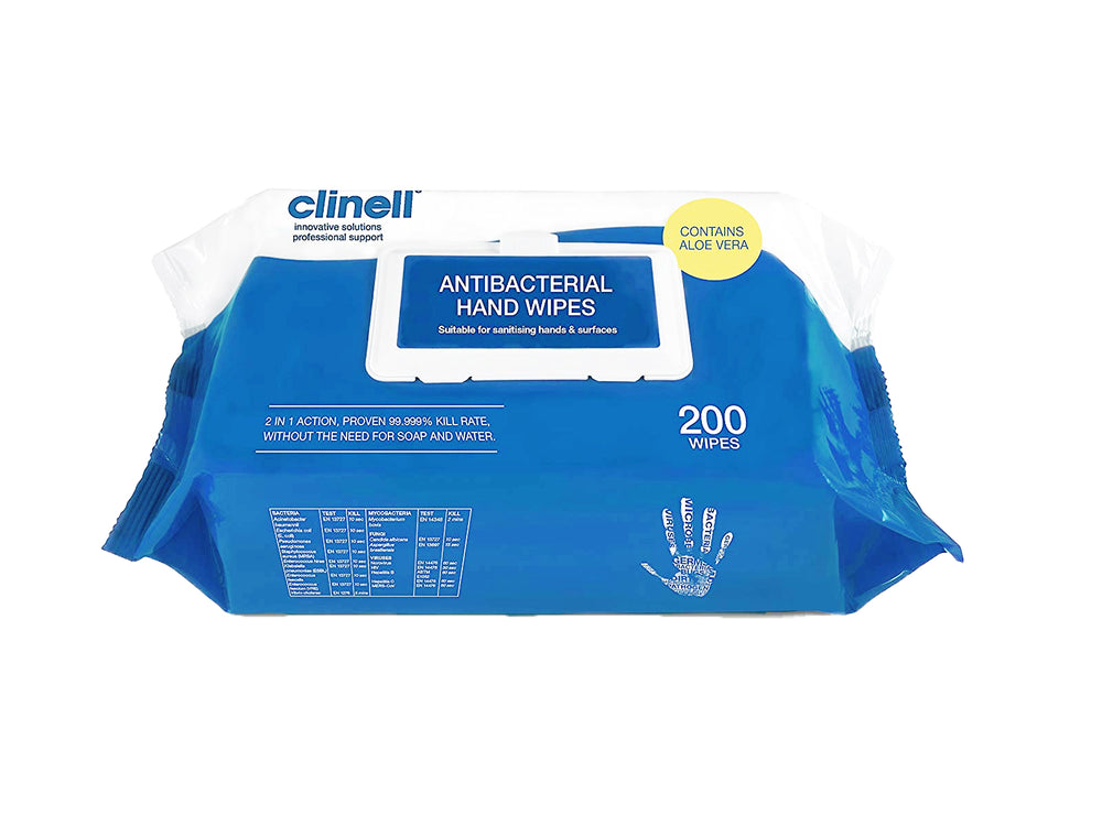 Clinell Antimicrobial Hand & Surface Wipes or Spray