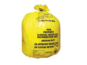 Clinical Waste Sacks 5kg Medium Duty