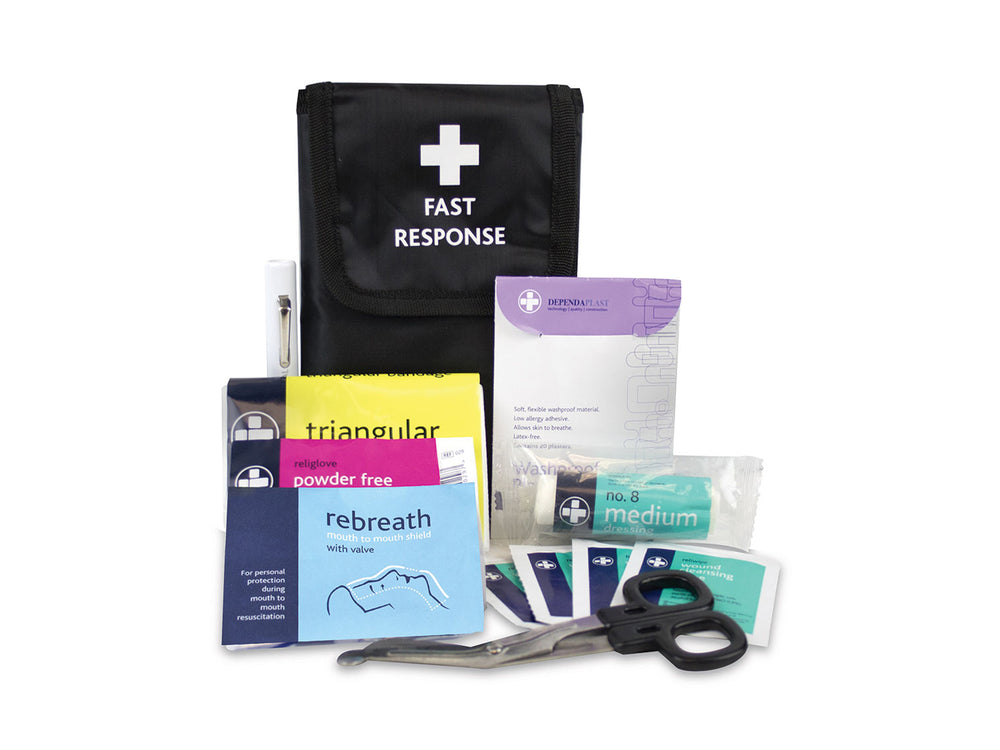 Fast Response 1 Person Kit in Black Belt Wallet