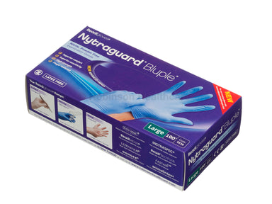 Nytraguard Bluple Nitrile Gloves Powder Free (100)