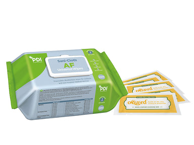 PDI Sani-Cloth AF Universal Wipes, Oqard Hand & Surface Cleansing Wipe Sachets