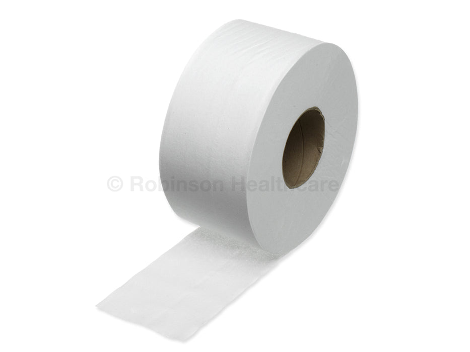 Readi Paper Mini Jumbo Roll 2 Ply White 9cm x 200m