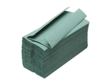 Readi Hand Towel - C Fold - Non Interleaved - Green
