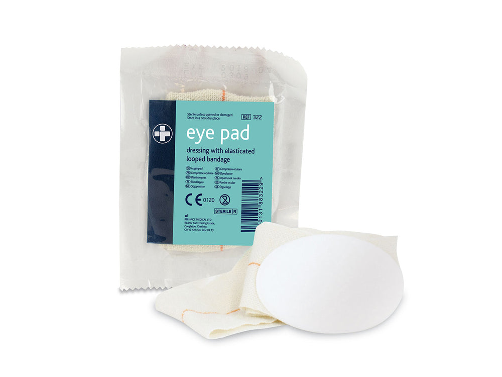 Eye Pad Dressings with Elasticated Loop