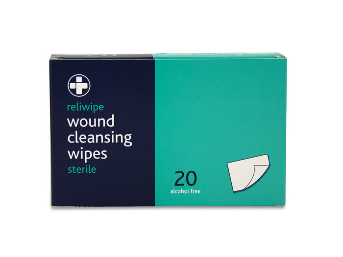 Reliwipe Wound Cleansing Wipe BS8599-1 Kit Refill (20)