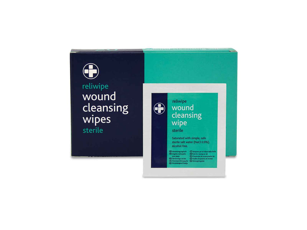 Reliwipe Wound Cleansing Wipe BS8599-1 Kit Refill