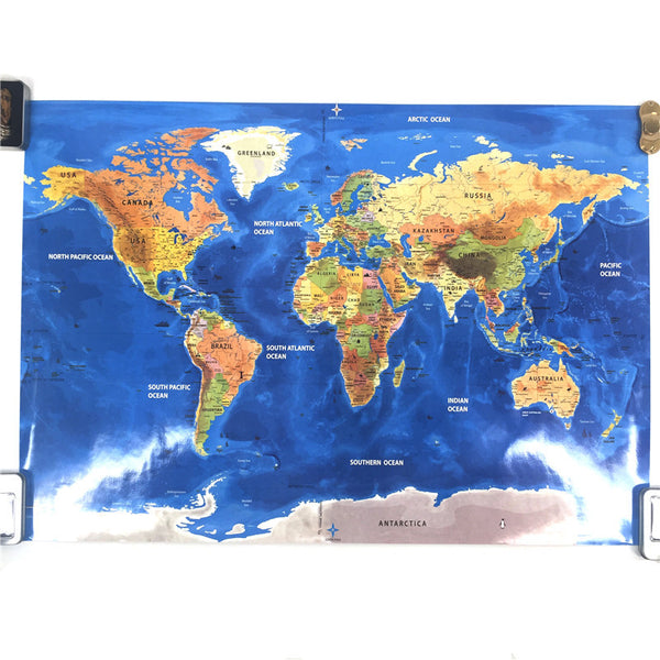 Deluxe edition scratchable world map dark flags ocean edition deluxe edition scratchable world map dark flags ocean edition gumiabroncs Images