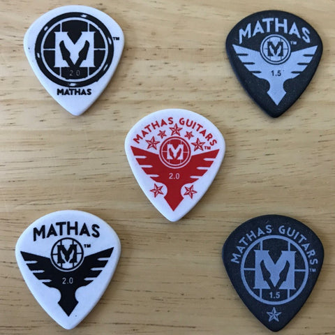"Mathas Guitars - Guitar Picks - ""Jazz Maxx"" - Sample Pack"